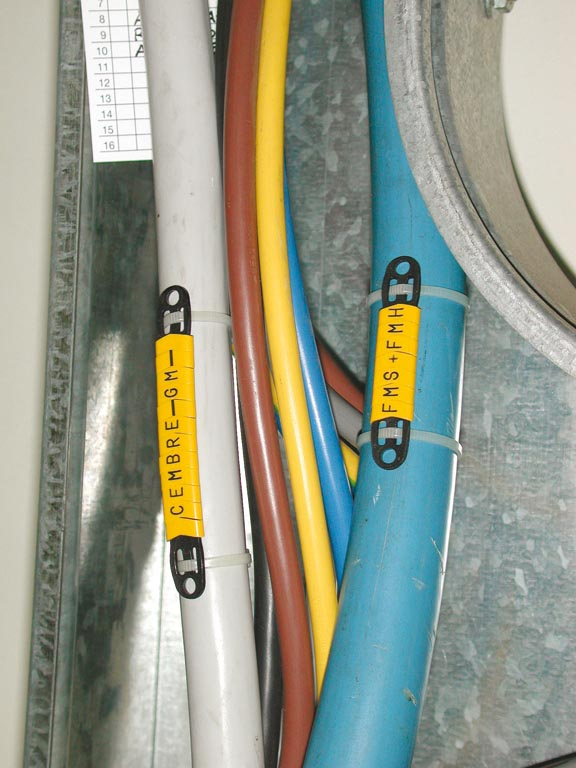 PUSH-ON FLAT RING CABLE MARKERS