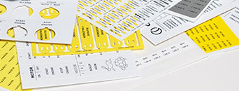 Labelling on printed sheets